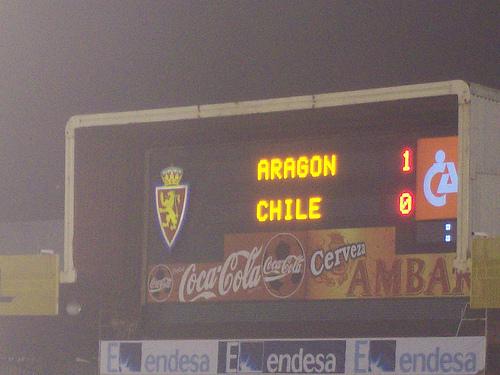 Final del partido Aragon Chile 1 - o